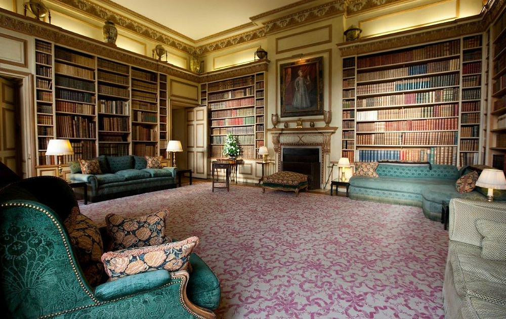 Library at Leeds Castle.  A busybrides wedding