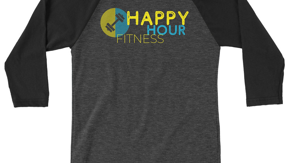 HAPPY HOUR FITNESS - 3/4 sleeve baseball shirt