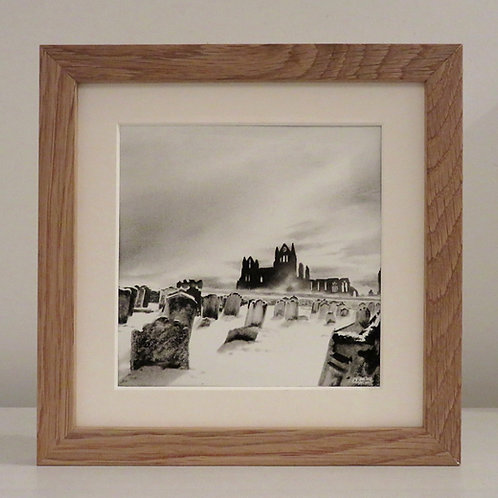 Whitby Abbey in the Snow, original drawing