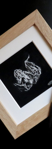 Mini bat drawing.