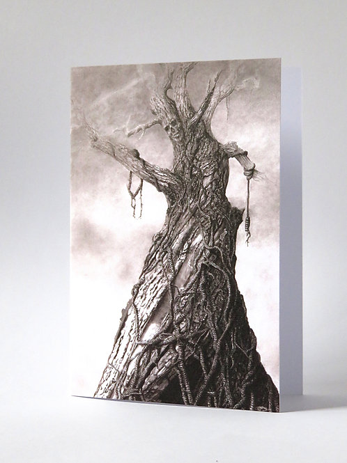 Timber gothic illustration blank card