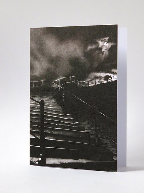 Hunted gothic illustration blank card