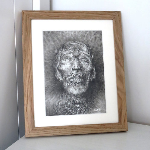 concept drawing charcoal and carbon pencil portrait of stephen monster art