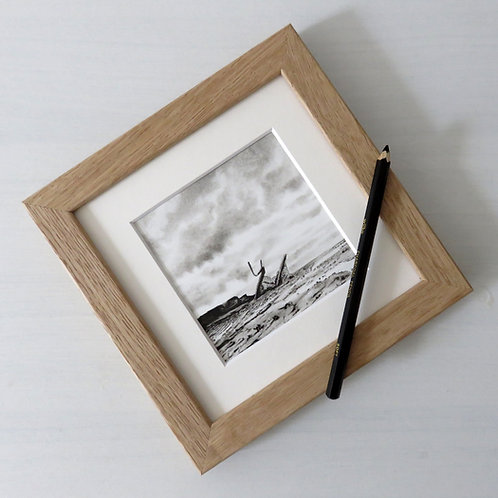 original miniature seascape of a shipwreck on the yorkshire coast by local artist