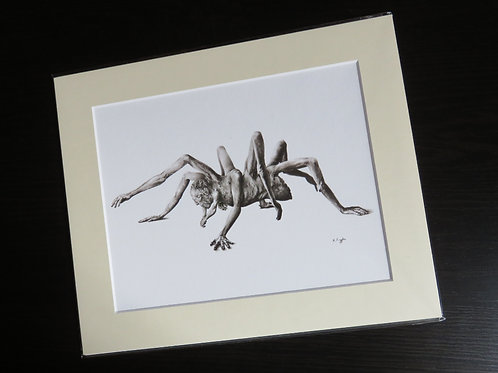 monster with many hands fine art print black and white gothic decor