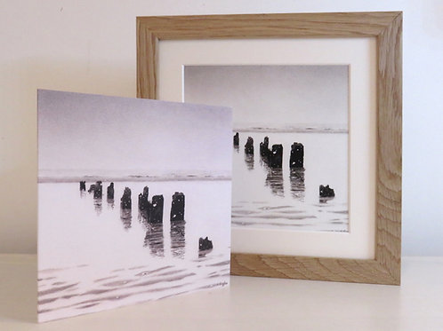 Sea and Snow, framed print and card set.