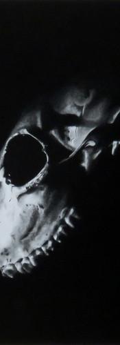 Skull 2 charcoal drawing