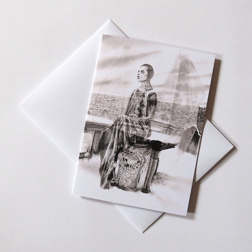 To Spite the Living gothic illustration blank card