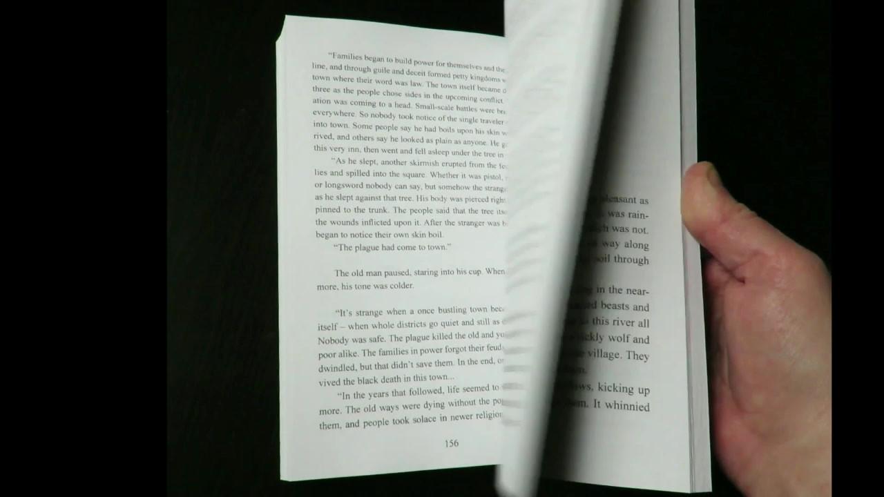 Book flip video