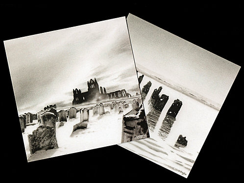 Snowscape cards two pack