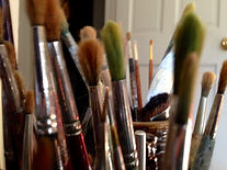 Needlepoint design paint brushes