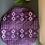 Thumbnail: Bonnet satin ethnique violet et doré