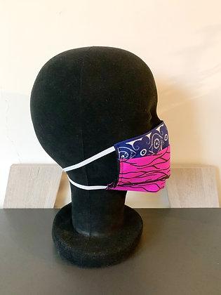 Masque barrière Wax fushia