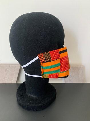 Masque barrière Wax orange