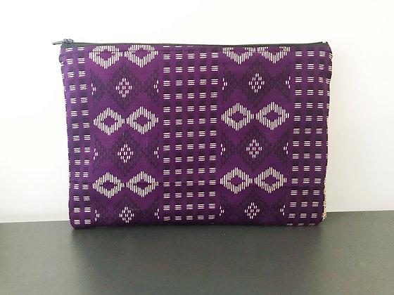 Grande trousse motifs indiens violet