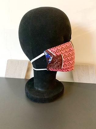 Masque barrière Wax rose clair
