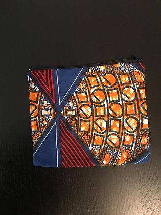 Mini trousse wax bleu, orange et rouge
