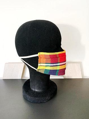 Masque barrière afnor madras multicolore