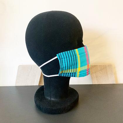 Masque barrière afnor madras bleu