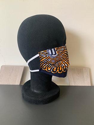 Masque barrière wax marine et orange