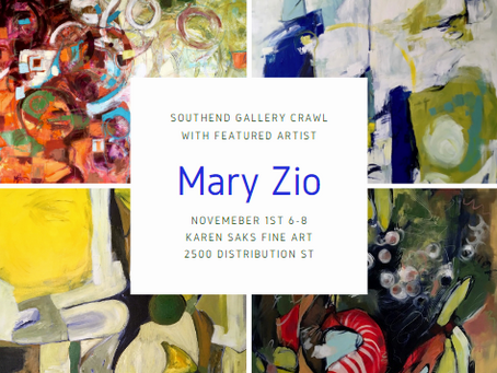 First Friday Southend Gallery Crawl with Mary Zio