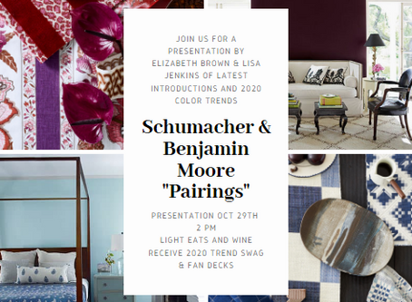 """Pairings""  with Schumacher and Benjamin Moore"