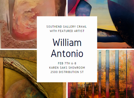 First Friday Southend Gallery Crawl with William Antonio