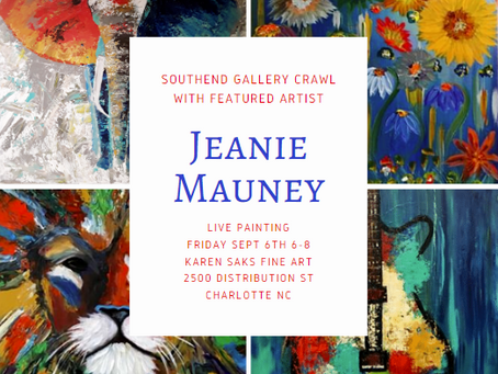 First Friday Southend Gallery Crawl Sept. 6th 6-8 With Jeanie Mauney