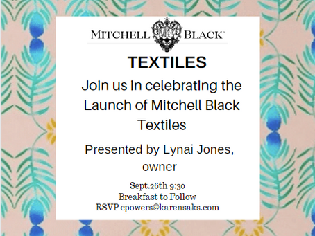 Mitchell Black Textiles Launch