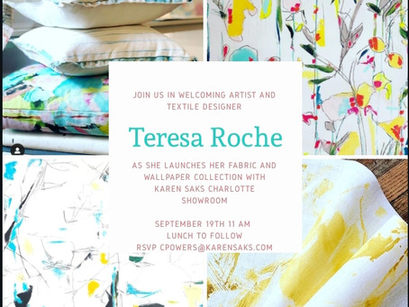 Artist Teresa Roche Launches Fabric and Wallpaper Collection with Karen Saks