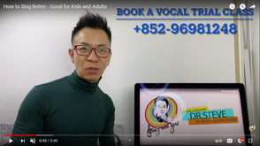 What is golden secret behind singing well? Watch this video to find the answer! 唱歌好聽的秘訣是什麼?