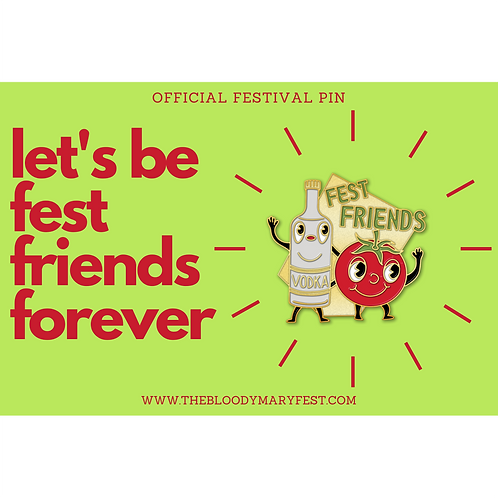 """Enamel Pin - """"Fest Friends"""""""