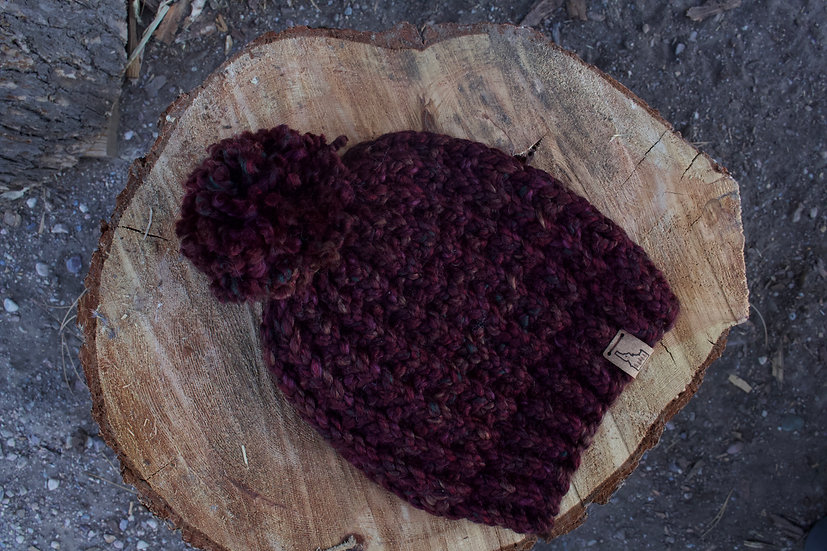 Top of the World Waffle Beanie - Apple Spice