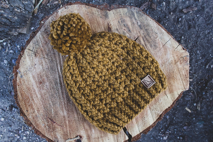Custom Top of the World Waffle Beanie (made to order)