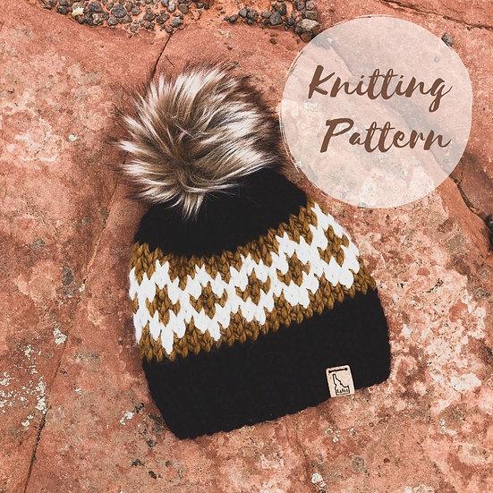 Black Diamond Beanie - Knitting Pattern