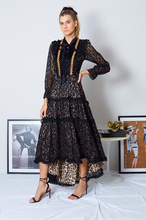 Vestido de Veludo Onça