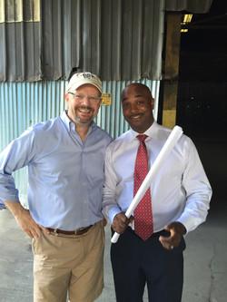 Ric Geyer + councilman Kwanzaa Hall