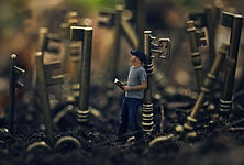 a-man-holds-a-bible-surrounded-by-keys_S
