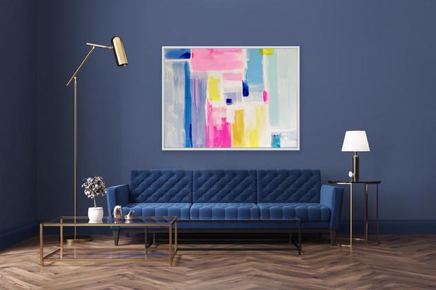 Rebecca Newport colorful abstract interi