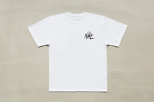 "COURTNEY MC x YETI OUT ""DEMONIZE"" TEE - WHITE"