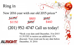2015 Prices For 2016!