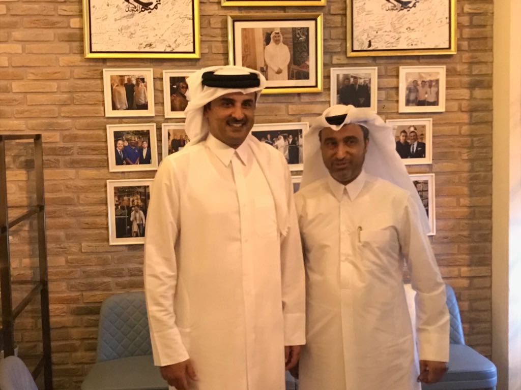 تشرفنا بزياره سمو الامير الشيخ تميم