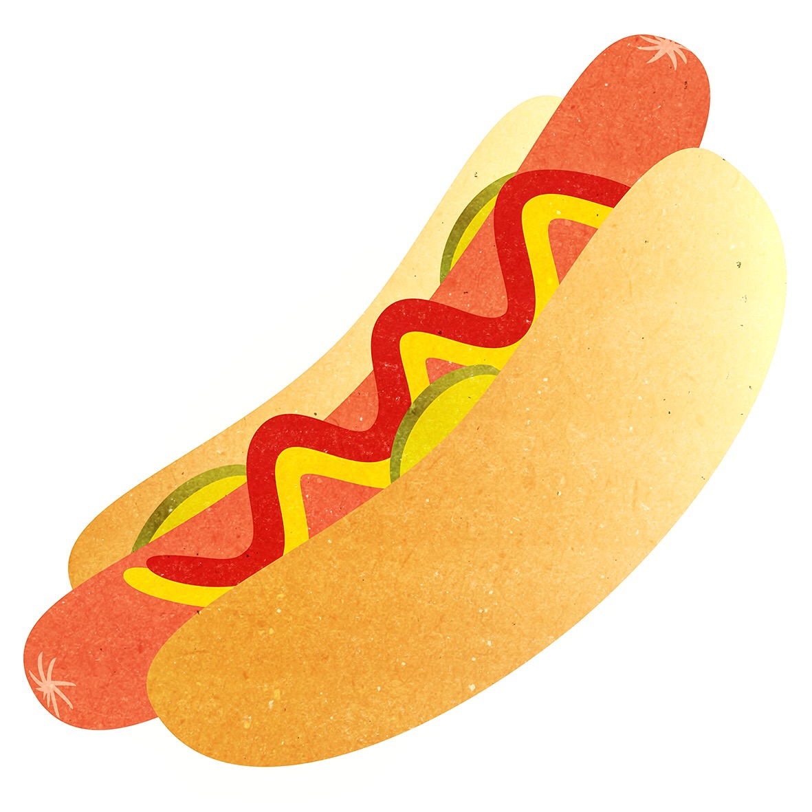 HOT DOG ILLUSTRATION