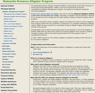 Statewide Nuisance Alligator Program