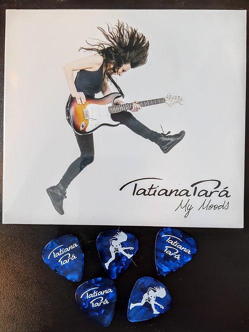 Kit CD My Moods + 5 palhetas Tatiana Pará
