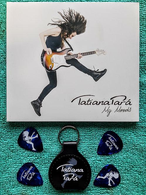 Kit CD My Moods + Chaveiro Porta Palhetas + 4 palhetas Tatiana Pará