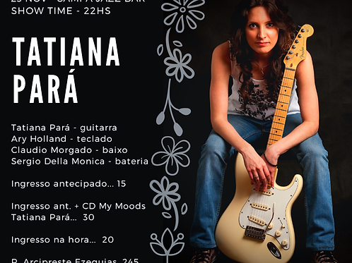 Ingresso Individual para Show Tatiana Pará 23/11/2019 no Sampa Jazz Bar