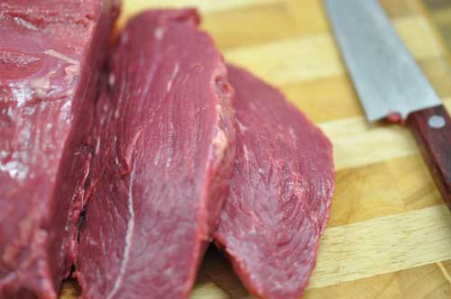 Meat for homemade biltong