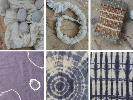Shibori Indigo Dyeing Workshop July 17, 2021