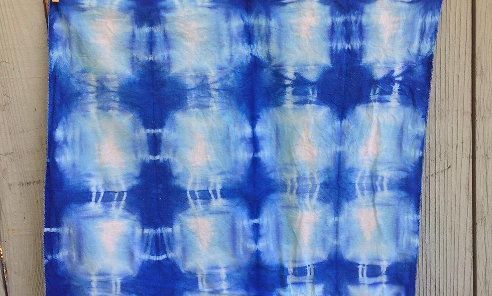Shibori  Indigo Dye Handkerchief